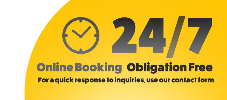 24-7 Online Booking
